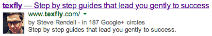 Author Sure - Picture in the SERPS