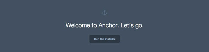 Install Anchor CMS - Step 1